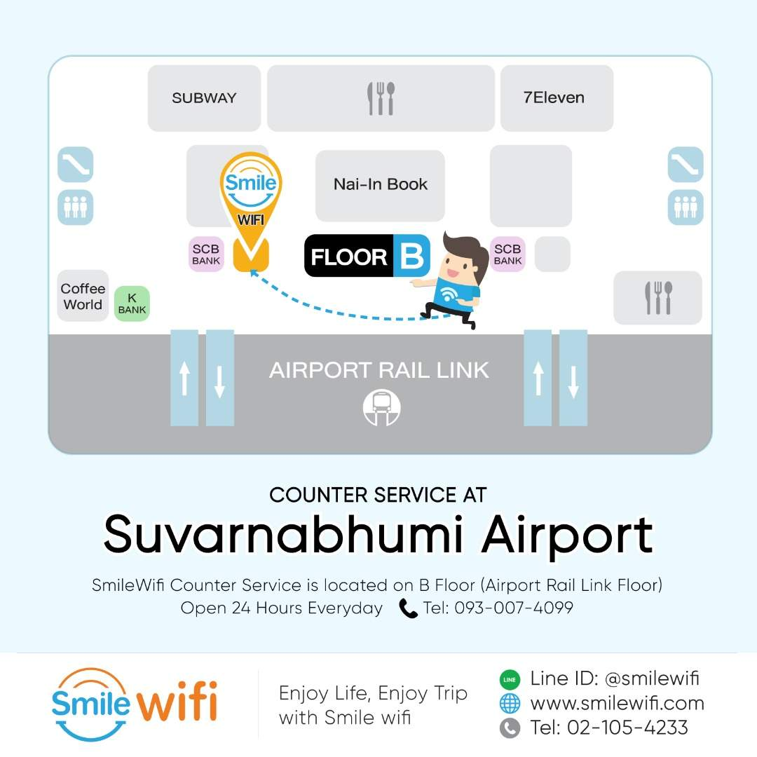 4G WiFi (TH Airport Pick Up) for Europe [Unlimited Data]